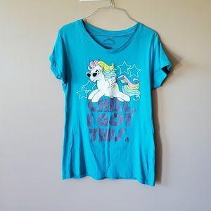 My Little Pony 90s Style L Blue Tee Shirt